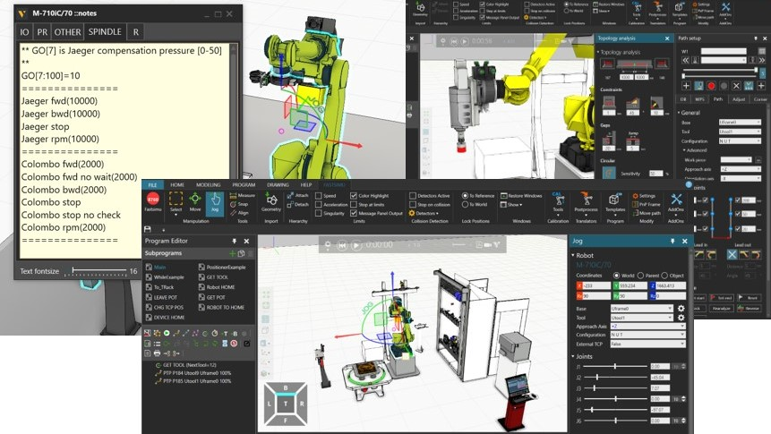 Robot offline programming software